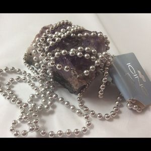 NEW Silver and brushed Simulated silver Necklace